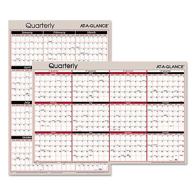 (At-A-Glance Vertical/Horizontal Erasable Quarterly Wall Planner 24 x 36 2019)