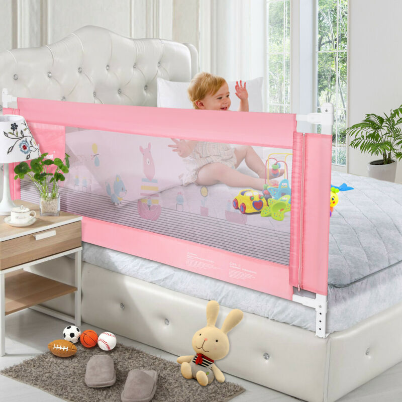 Odoland 71in Vertical Lift Guard Bed Rail Anti Falling Bumper Baby Toddler Safe