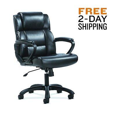 Leather Executive Swivel Office Chair Desk Task Computer Ergonomic High Back