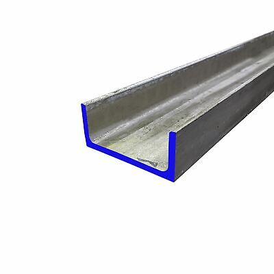 304 Stainless Steel Channel 3 X 1.5 X 48 Inches - .250