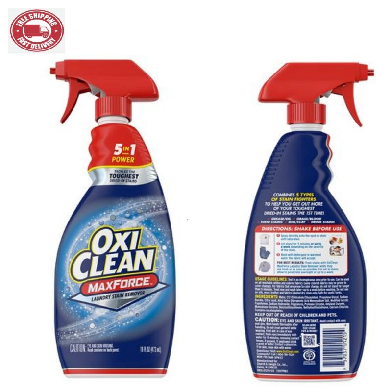 OxiClean MaxForce Laundry Stain Remover Spray Bottle  16 Fl Oz  Best Price