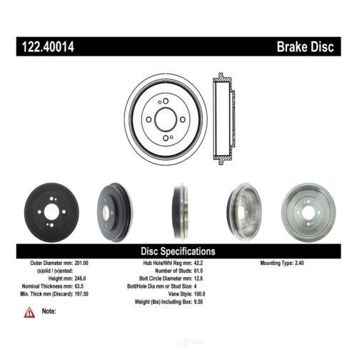 Centric Parts 122.40014 Brake Drum