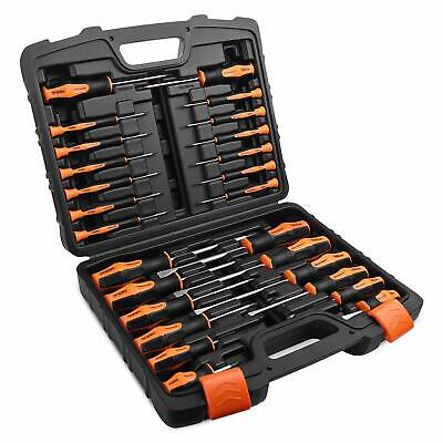 TACKLIFE 26PCS Magnetic Screwdriver Set with Case, Includs Slotted/Phillips/Torx
