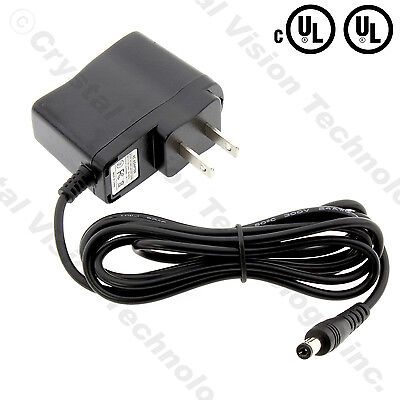 (UL) 110-240v AC 12 volt 12v DC 500mA 0.5A 50/60Hz Wall Power Supply Adapter