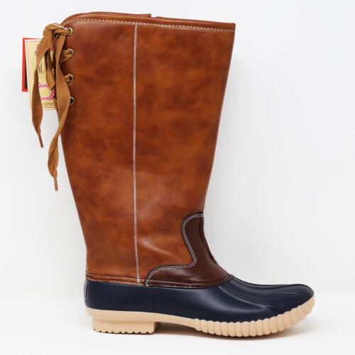 Avanti Heather Women's Knee-High Faux Leather Duck Rain Boot