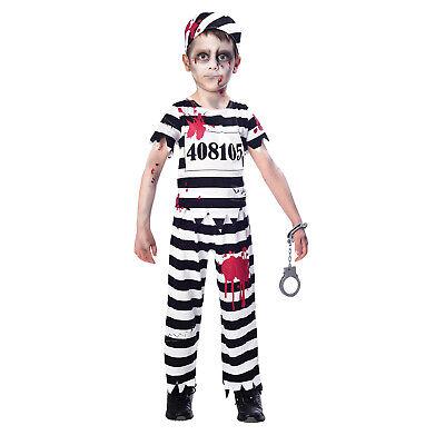 Zombie Kinderkostüm Halloween Häftling Grusel Gefangener Karneval Fasching - Gefangener Kostüm Halloween