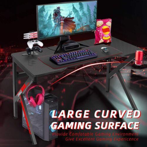 """Gaming Desk, SIMBR 48"""" K-Frame Computer Desk, Large Workstation Office PC Gamer"""