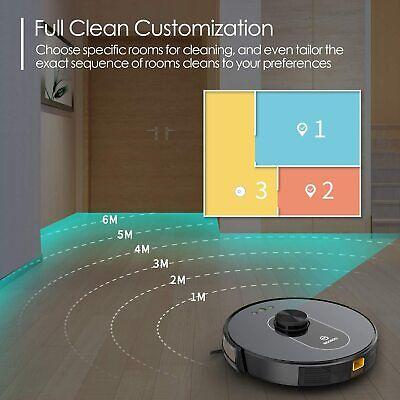 Moosoo Robot Vacuum Cleaner Lidar Navigation Mapping Worksalexa Wifi Connectivi