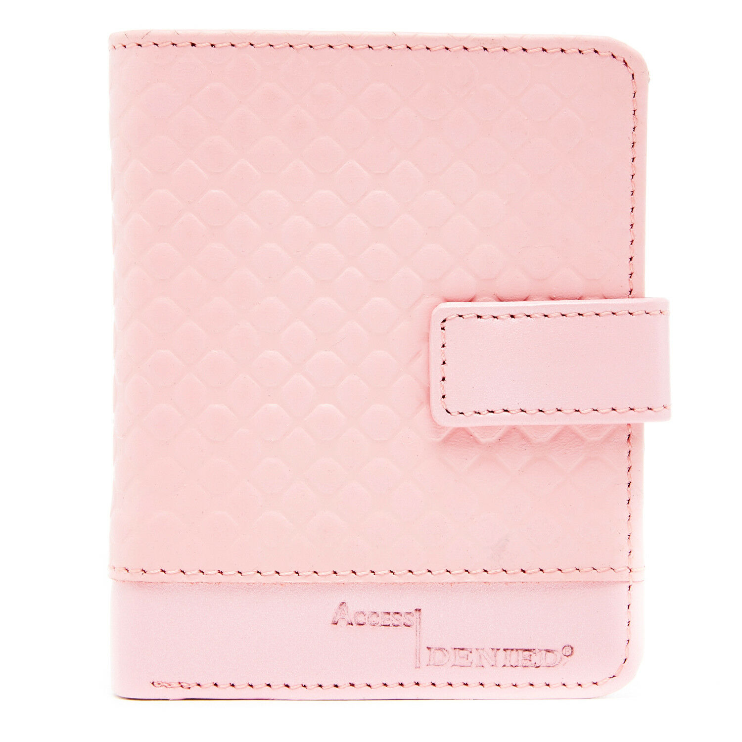 Leather Slim Wallet For Women Ladies Organizer With Flip-Up