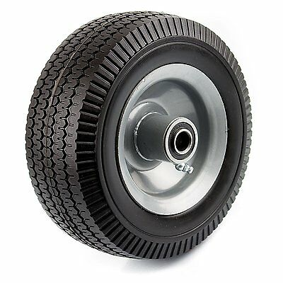 Nk Wff8 Heavy Duty 8-inch Solid Rubber Flat Free Tubeless Hand Truck Tire Wheel