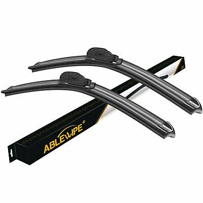 """ABLEWIPE 24""""+22"""" Fit For BMW 650i 2010-2006 Beam Front Windshield Wiper Blades"""