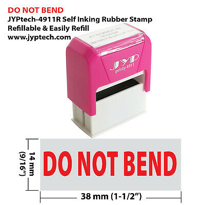 Do Not Bend - Jyp 4911r Self Inking Rubber Stamp Red Ink