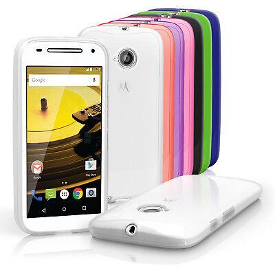 Glossy TPU Gel Case for Motorola Moto E 2nd Gen XT1524 Skin Cover + Screen Prot