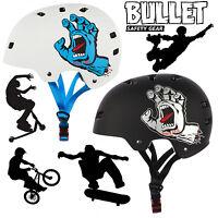 Bullet X Santa Cruz Pro Protection Skate Helmet Jim Philips Screaming Hand - bullet - ebay.co.uk