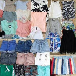 Girls Clothes Bulk tops shorts summer 50 items size 4 to 8 age 10