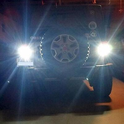 GENSSI 80W LED Reverse Backup Light Bulbs For Jeep Wrangler JK (Best Led Backup Lights)