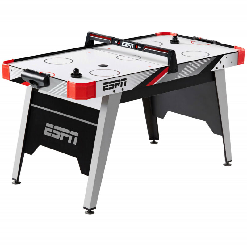Air Powered Hockey Table With Overhead LED Scorer Family Game Night 60| 5FT New