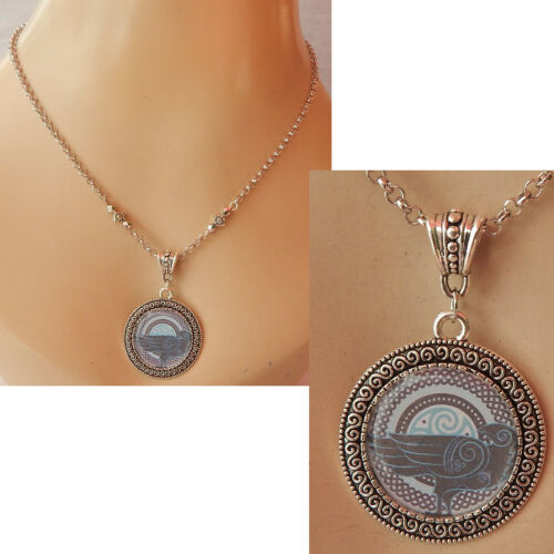 Raven Necklace Pendant Bird Crow Silver Jewelry Norse Handmade Viking Fashion