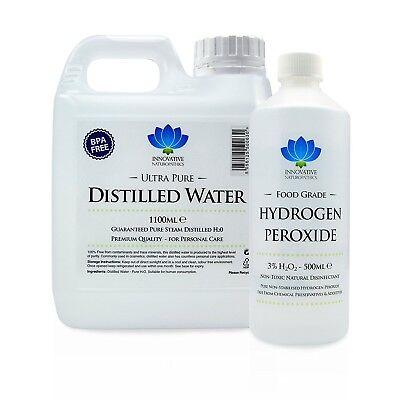 3% Food Grade Hydrogen Peroxide & Distilled Water Kit