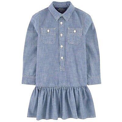 Girls Dress Jeans Polo Ralph Lauren Children Wear 7-16 Chambray Blue - Girls Christmas Dresses 7-16
