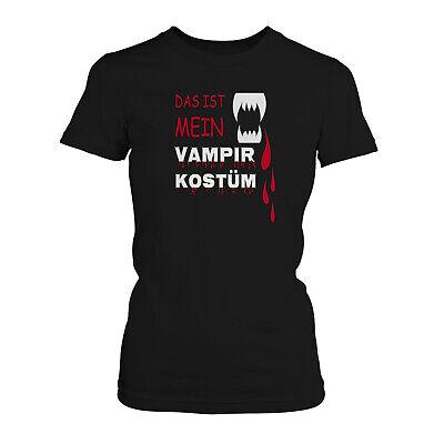 Mein Vampirkostüm Damen T-Shirt Fun Shirt Halloween Fasching - Kostüme Vampir Shirt