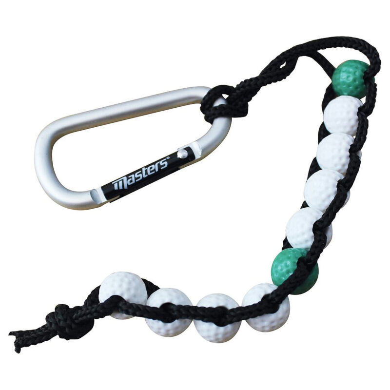 NEW Masters Golf Bead Stroke Counter Shot Scoring with Carabiner Clip