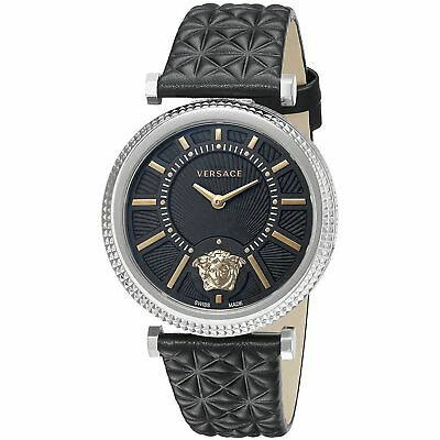 Versace VQG020015 Women's V-HELIX Silver-Tone Quartz Watch