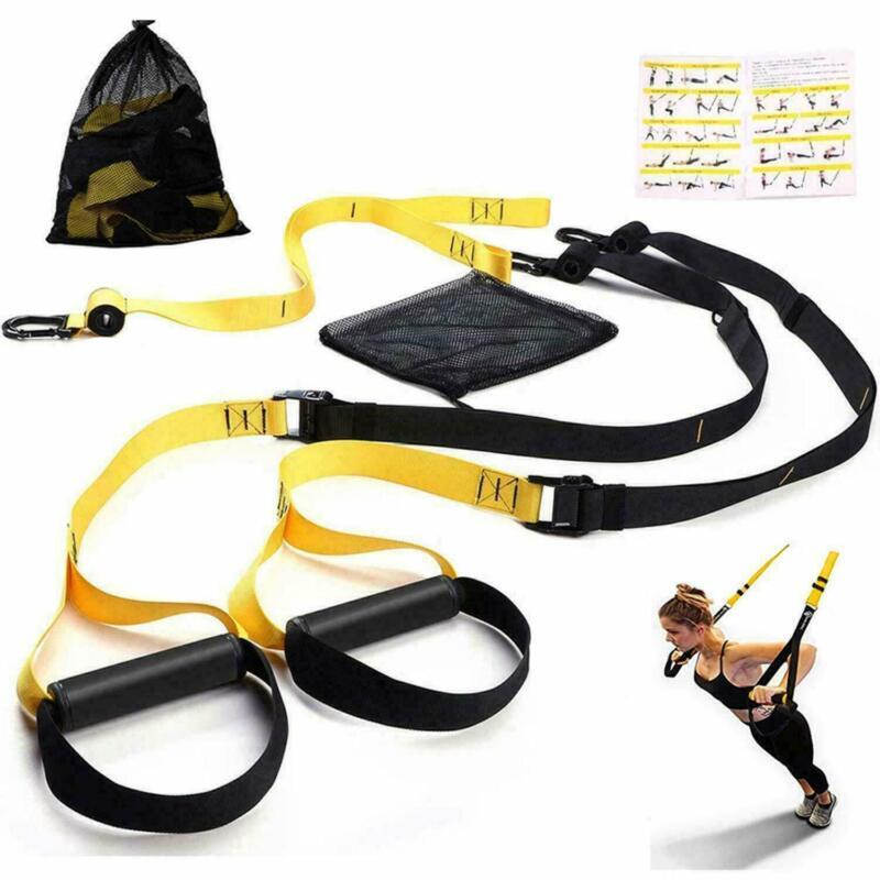 TRX Style Premium Suspension Trainer Training Kit with Integrated Door Anchor