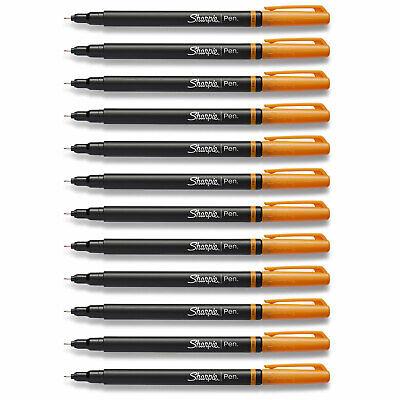 Sharpie Plastic Point Pen Fine Point Orange Ink 12-count