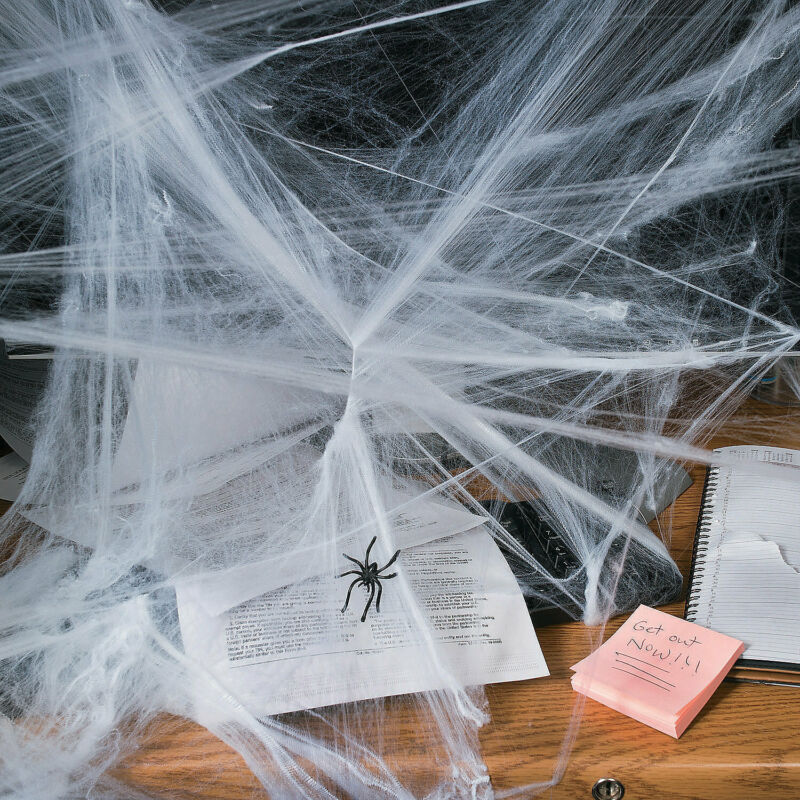 Stretchable Spider Webs Halloween Decoration - Party Decor - 12 Pieces