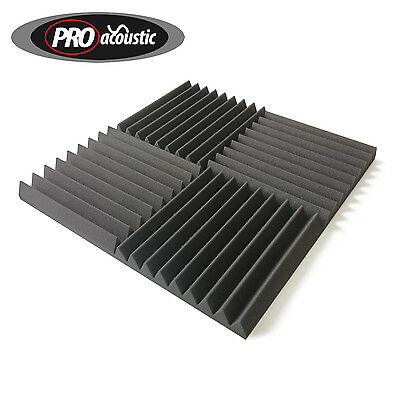 "24x AFW305 Pro Acoustic Foam Wedge Tiles 12"" 305mm Studio Sound RoomTreatment"
