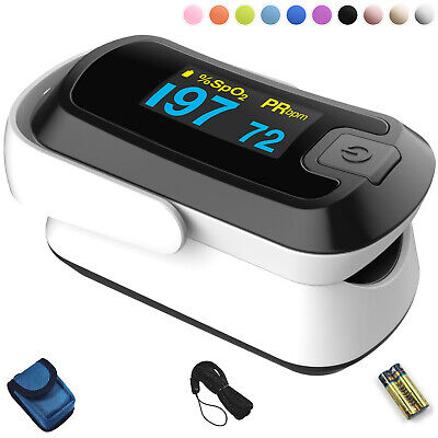 Mibest Black Dual Color Oled Finger Pulse Oximeter - O2 Saturation Monitor