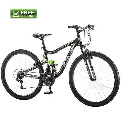 "MONGOOSE MOUNTAIN BIKE MEN 27.5"" ALUMINUM FRAME Black Dual Suspension Shimano"