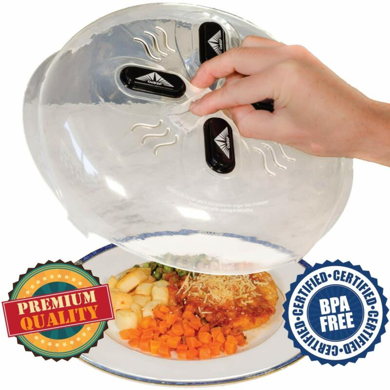 OzBSP Magnetic Microwave Plate Cover Splatter Lid - with Ste