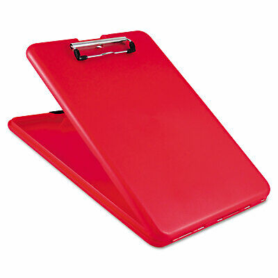 Saunders Slimmate Storage Clipboard 12 Clip Cap 8 12 X 11 Sheets Red 00560
