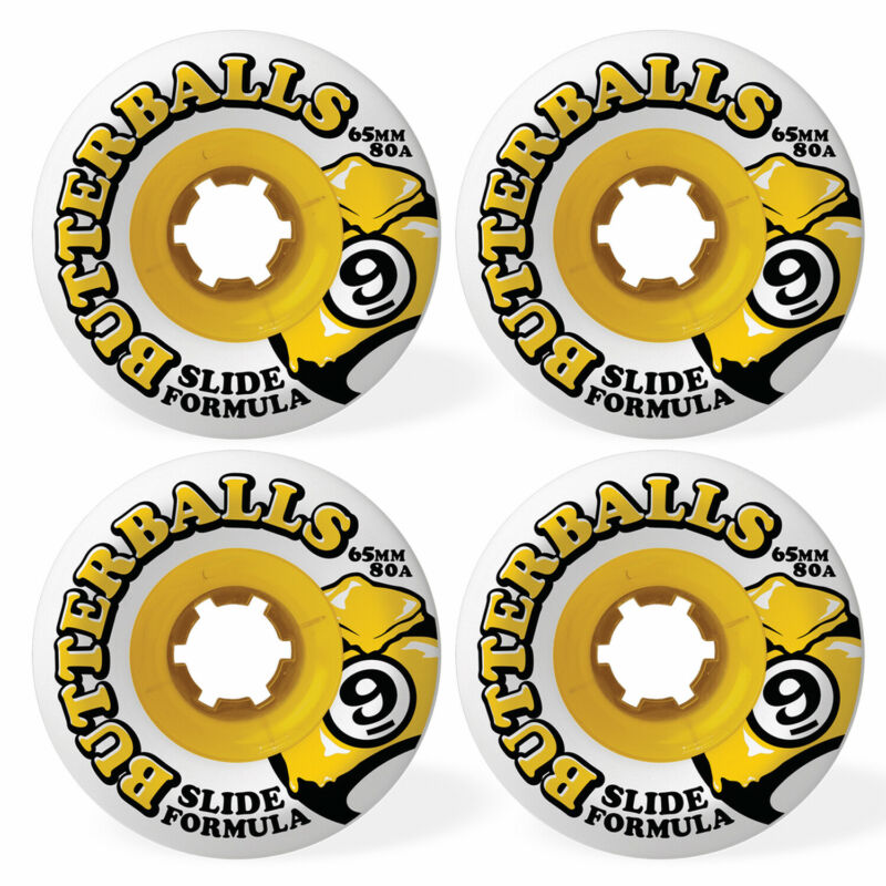 SECTOR 9 Longboard Wheels BUTTERBALLS 80A WHITE 65MM