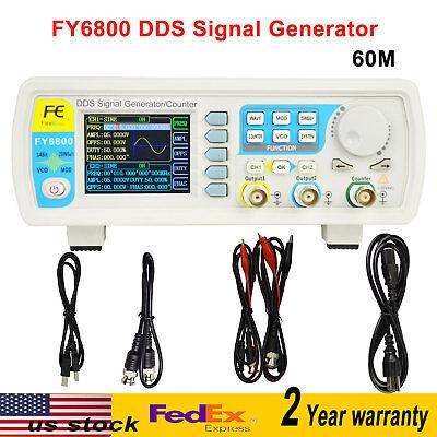 Fy6800-60m Dds Signal Generator Dual-ch 0.01-100mhz Arbitrary Waveform Pulse