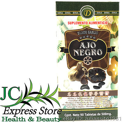 BLACK GARLIC AJO NEGRO 90 TABLETS 500mg EACH HELPS JOINT PAIN AND INFLAMMATION (Garlic 500 Tablets)