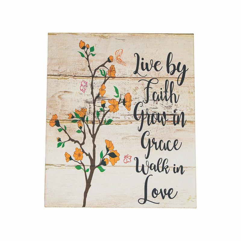 Live By Faith Wall Sign - Home Decor - 1 Piece