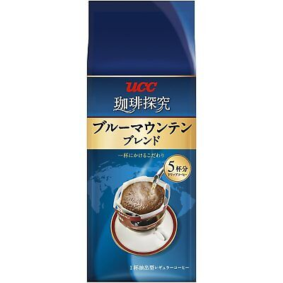 UCC Japan COFFEE TANKYU Blue Mountain Blend Dripping Coffee, 5-Pack