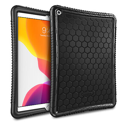 For iPad 7th Gen 10.2 Inch 2019 Silicone Case Back Cover Kids Friendly Anti -