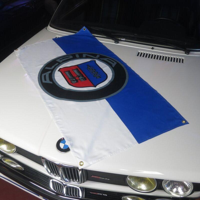Alpina Flag Banner garage bmw M3 racing dtm hartge b7 E30 2002 325i ruf korman