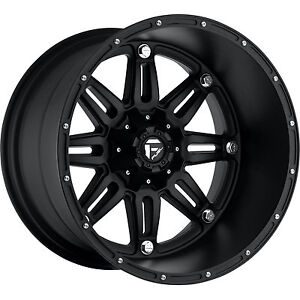 20x14 Black Fuel Hostage 8x6.5 -76 Rims Fuel Mud Terrain 35X13.5X20 Tires