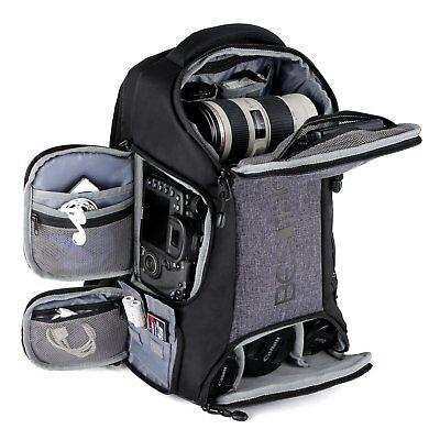 Kamerarucksack Fotorucksack mit 10 Zoll Laptopfach Wasserdicht für DSLR Kamera