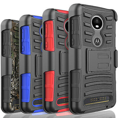 For Motorola Moto Z4 Phone Case With Belt Clip Cover + Tempered Glass (Glasses Case With Belt Clip)