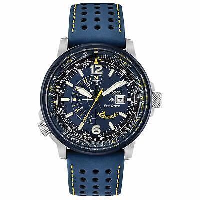 Citizen Eco-Drive Promaster Nighthawk Men's Blue Leather Strap Watch BJ7007-02L Citizen Mens Eco Drive Strap