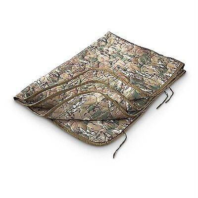 Military Style Wet Weather Poncho Liner Blanket Woobie Multicam Camo