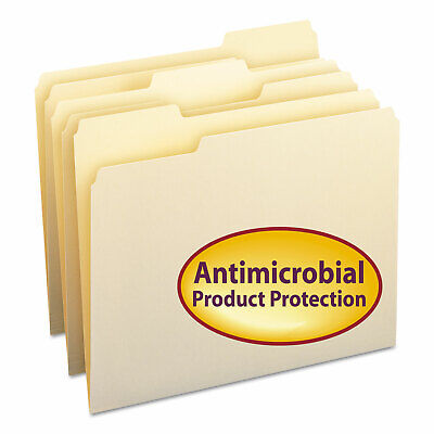 Smead Antimicrobial One-ply File Folders 13 Cut Top Tab Letter Manila 100box