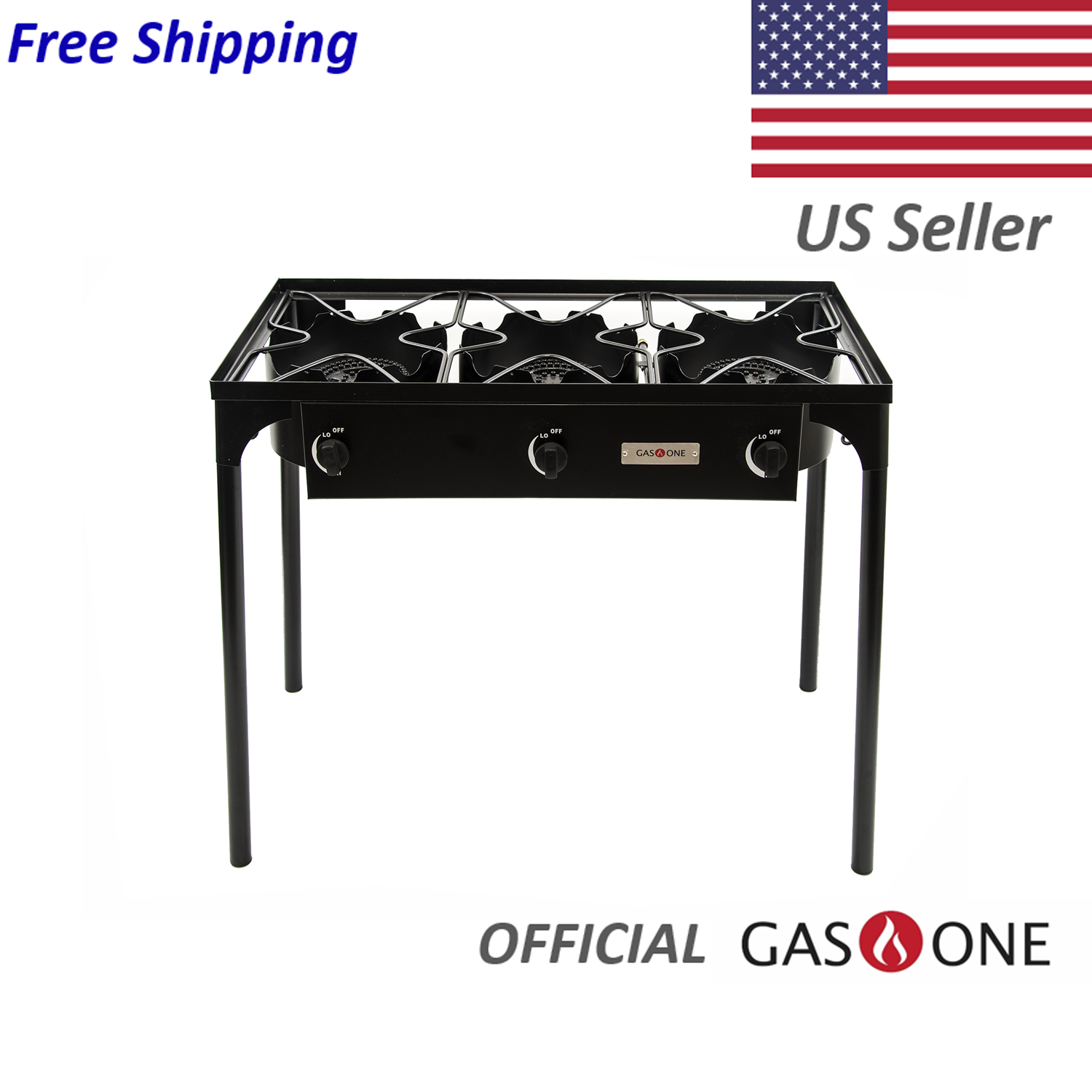 Gas One Triple Burner Gas Propane Cooker Outdoor Camp Stove,