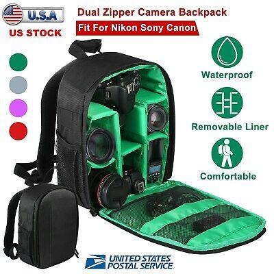 Travel Large Digital DSLR Camera Backpack Shoulder Bag For Canon Nikon Sony